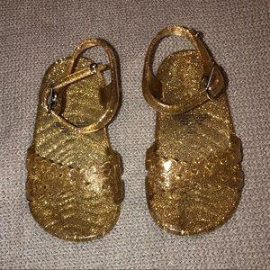 3/$15 Old Navy Gold Rush Glitter Jelly Sandal